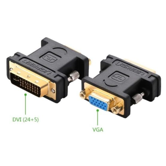 to VGA Female 15-pin Adapter Dual Link  Super 24+5 DVI-I Male